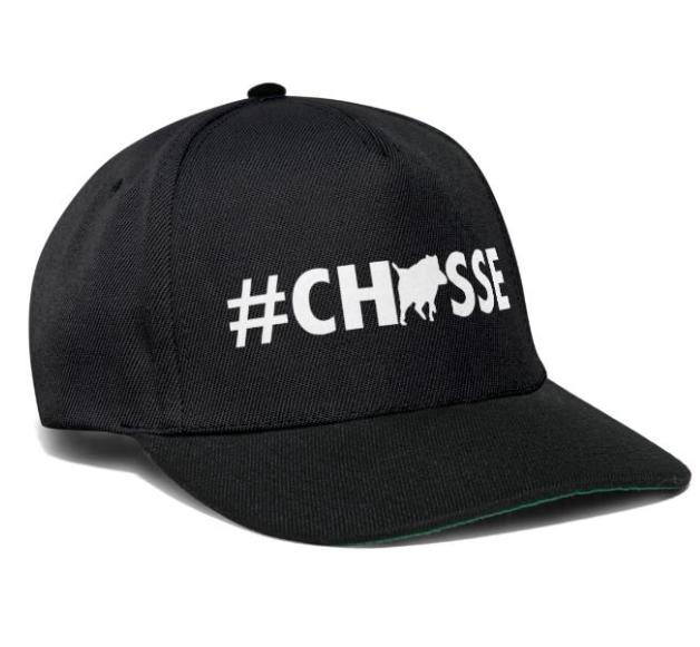 casquette motif Chasse et texte personnalisable