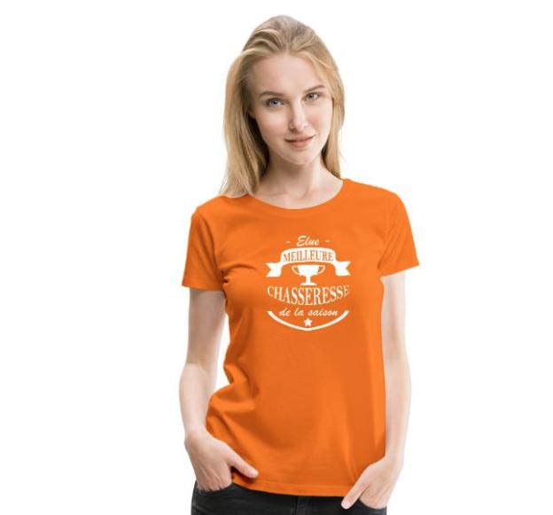 """T-shirt Chasse """"meilleure chasseresse de la saison"""""""