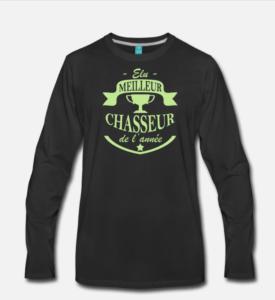 t-shirt meilleur chasseur