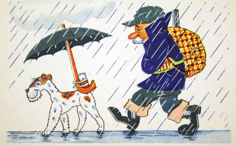 chasser sous la pluie